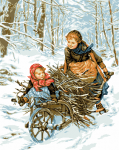 гоблен:  За съчки в гората