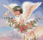 гоблен: Ангелче с гълъбче