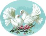гоблен: Влюбени гълъбчета