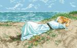 гоблен:Девойка на плажа