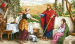 гоблен: Самарянките посрещат Исус