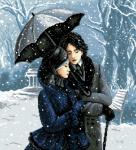 гоблен: Романтична разходка в парка