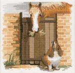 гоблен:  КОНЯ И КУЧЕТО