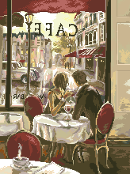 гоблен:  КАФЕ В ПАРИЖ