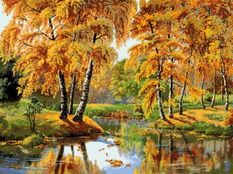 гоблен: Есен край езерото