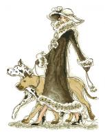 гоблен:  ДАМА С КУЧЕТА