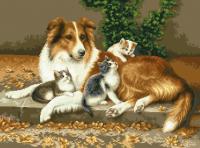гоблен: Ласи и котетата