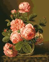 гоблен: Рози в прасковен цвят