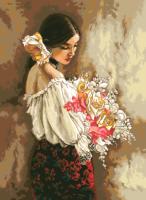 гоблен: Дама с букет