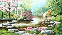 гоблен: Градина с беседка