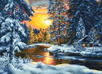 гоблен: Зимен залез