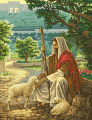 гоблен: Исус добрият пастир