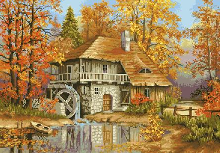 гоблен: Есенната воденица